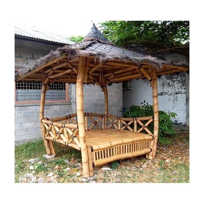 gazebo paillote en bambou