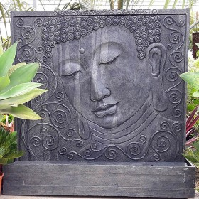 Fontaine Exterieur Bouddha fontaine mur d'eau bouddha - terre lointaine