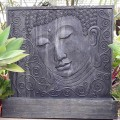 Fontaine mur d'eau Bouddha