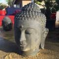 Statue tête de Bouddha finition antique