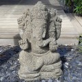 Statue de Ganesh en pierre basanite