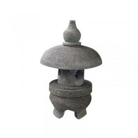 Lanterne japonaise Nagoya en pierre de lave, 48 cm