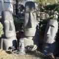 Statue Moaï Ile de Pâques finition antique