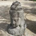 Statue tête de Shiva en pierre basanite