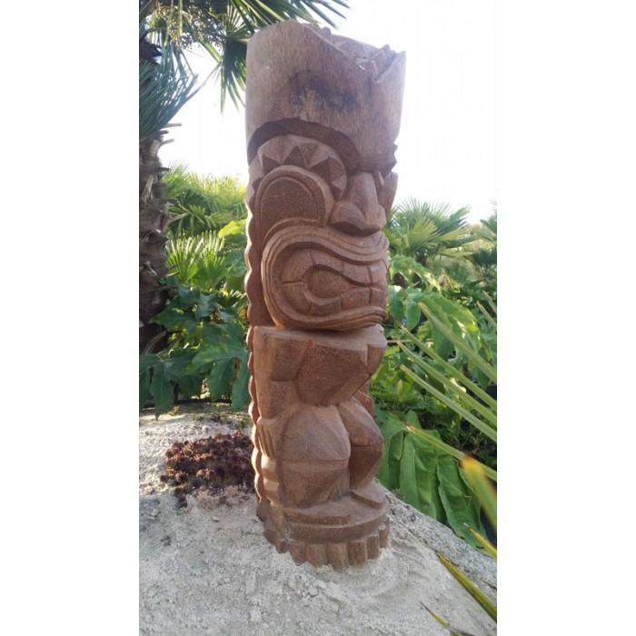 Statue Totem Tiki bois Ku-ka-ili-Moku, 100 cm