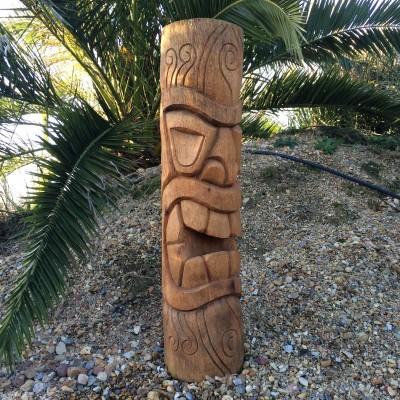 Statue Totem Tiki bois Morea, 100 cm