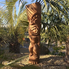 Statue Totem Tiki bois Ku-ka-ili-Moku, 150 cm