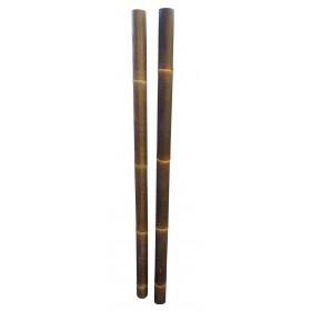Tige bambou déco noir diamètre 6 / 8 cm