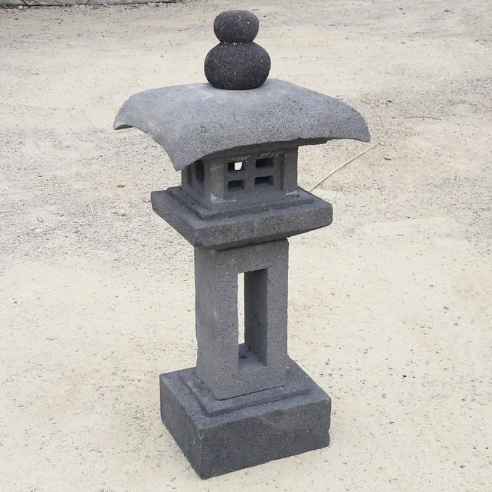 Lanterne japonaise Fujiyama en pierre de lave , 70 cm