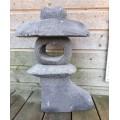 Lanterne japonaise Hakone en pierre de lave, 40 cm