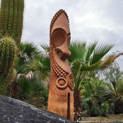 Statues de jardin et Totem en bois ambiance d'Océanie - Tiki