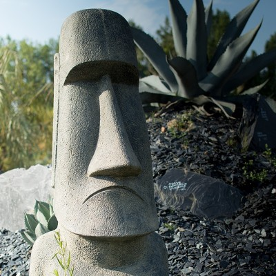 Statues de jardin ambiance Ile de Pâques - Moaï